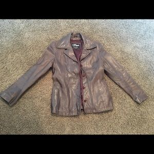 Wilson's Brown Leather Jacket size small